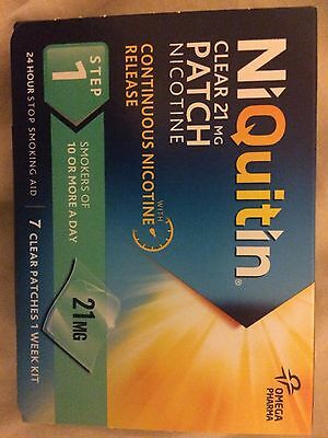 Nicorette Patches 21mg Boxed Ni-Quit-In Pre-quit
