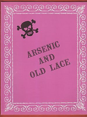 1973 KENLEY Theater Program ARSENIC AND OLD LACE w/WILLIAM SHATNER Ohio