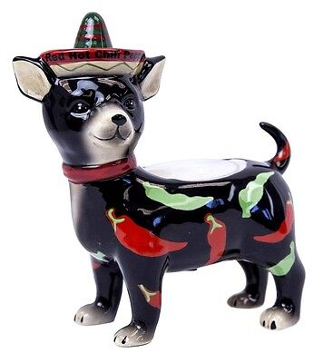 "Adorable New ""Chihuahua"" Red Hot Chili Pepper Tea Light Candle  Holder Free Ship"