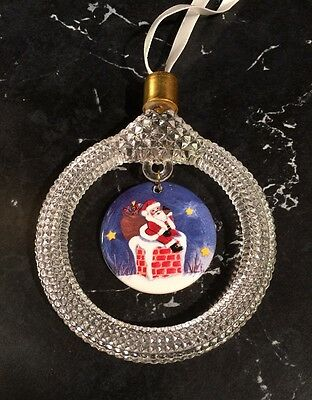 Princess House Exclusive Crystal & Porcelain Christmas Ornament