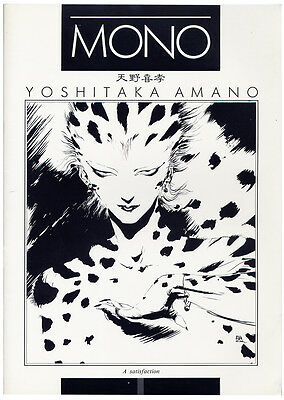 RARE Yoshitaka Amano MONO 1 & 2 ART BOOKS (1987) JAPAN Final Fantasy SIGNED!!!