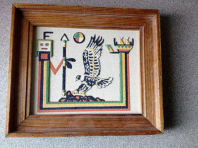 Eagle Yei Sand Art from Rainbow Way Ltd. Alburquerque New Mexico