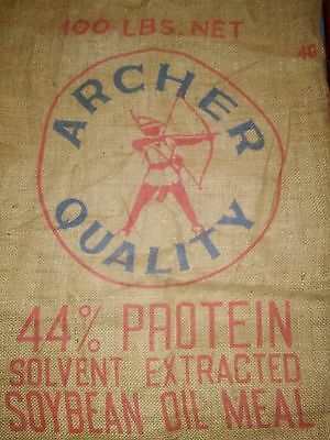 Authentic Burlap Seed Bag -ARCHER QUALITY - Nice!!