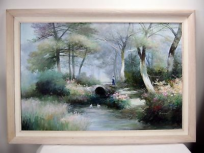 Large Rare European Oil Painting Expressionism On Canvas Signed By The Artist