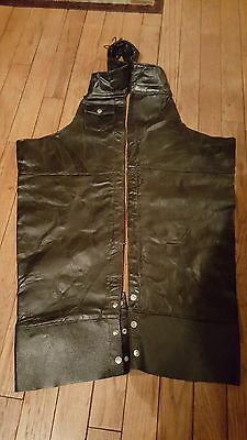MENS XL Black leather motorcycle chaps DIAMOND PLATE