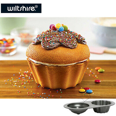 NEW Wiltshire GIANT CUPCAKE Pan 2-Layer Big Jumbo Baking Cup Cake Mould Tray