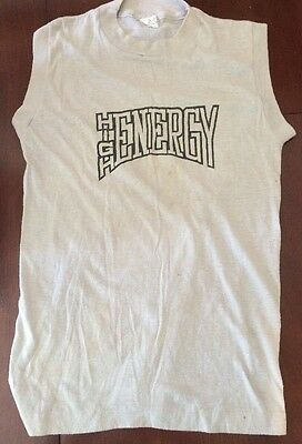 Vintage Made USA 50/50 Soft T Tank Top Gray High Energy Large 14-16 Youth Boys