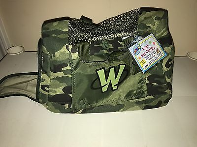 Webkinz Plush Pet Carrier Camo Green Army Style Camouflage NWT