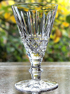 Waterford Crystal Signed Tramore Sherry Glass / Glasses Vintage, Mint