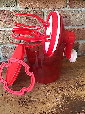 Tupperware Red Speedy Chef Whisk PLUS Free Postage, NEW