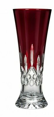Waterford Crystal Signed Lismore Red Pilsner Glass/ Glasses Brand New