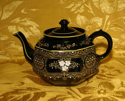 Vintage Gibson Albany Harvey Black *lucerne* Teapot Made In England