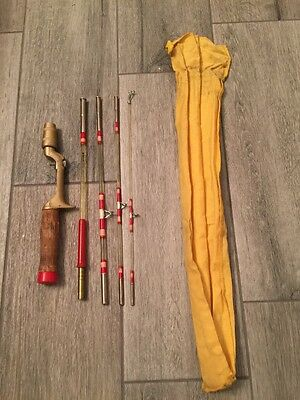 Vintage Longfellow #903 ~5 Pc Casting Rod Glass With Canvas Fishing Rod NICE !