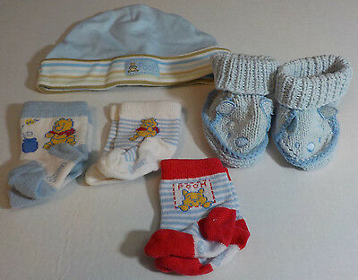 5 Piece Newborn Boy Winnie The Pooh Layette Previously Worn Lot C