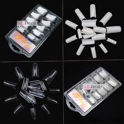 500pcs Capsules Tips French Faux Ongles Gel UV Acrylique Manucure Nail Art