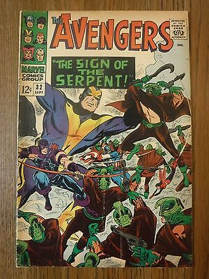 The Avengers 32 VG Silver Age Marvel Comics Sign of the Serpent