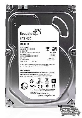 """Seagate Disque dur Interne NAS HDD 3,5"""" 4 To SATA III 6 Go/s ST4000VN000"""