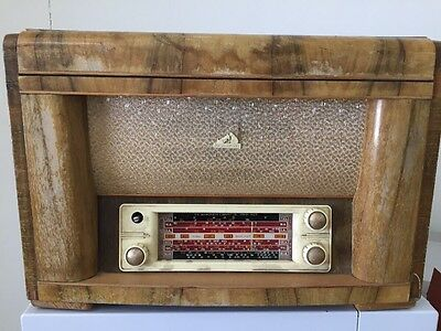 His Masters Voice Radio Record Player Antique Vintage Collectable