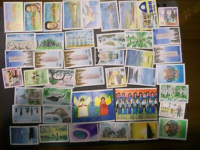 Nauru - 225 different stamps, nice colourful range inc. Surcharges (MV)