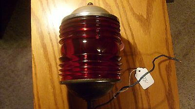 FANTASTIC Rare Dark Ruby Red Glass Ohio Brass N0,20 Fire Truck Light 1930s-1940
