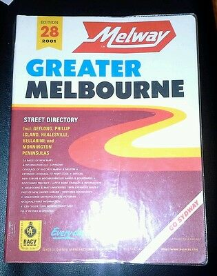 Melway Greater Melbourne Street Directory 28th Edition 2001