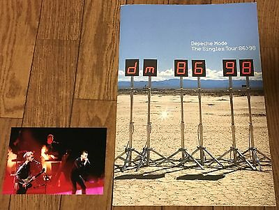 DEPECHE MODE THE SINGLES TOUR 86 98 CONCERT PROGRAM with PHOTO