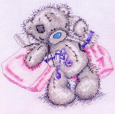 Tatty Teddy - With Shopping Bags - Cross Stitch Chart - FREE POST