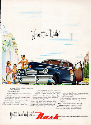 1947 Nash Car ad --Nash 600---l-580