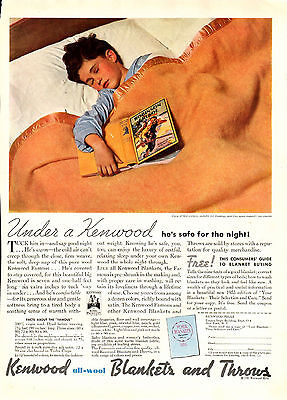 1935 Kenwood Blankets & Throws Ad --All Wool --x772