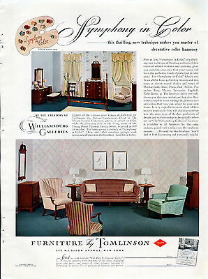 "1939 Tomlinson Furniture Ad ""Symphony in Color"" -----z996"
