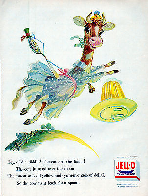 1956 Jell-O Ad --Hey Diddle,Diddle, The Cat & The Fiddle --=380