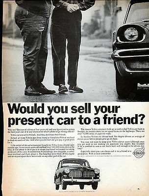 1965 Volvo car ad --Could Sell to a Friend ---k408