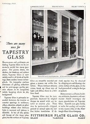 1925 Pittsburgh Plate Glass Ad ---Pantry Doors -----v531