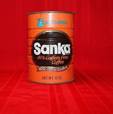 Vintage Sanka Coffee Can Tin Auto Drip