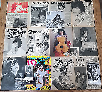 Donny Osmond Vintage Magazine Clippings