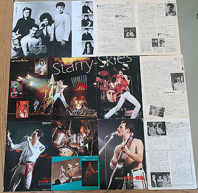 Queen Freddie Mercury Vintage Japan Magazine Clippings