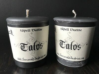 Talos scented votive (Forgotten Relms deity) - wicca, pagan, goth, D&D