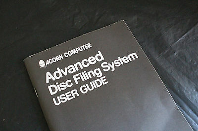 ACORNSOFT Advanced Disc Filing System User Guide for the BBC MICRO Computer