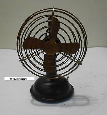 """Vintage Nautical Working Table Fan Collectable in Brass 6"""" Antique Fan."""
