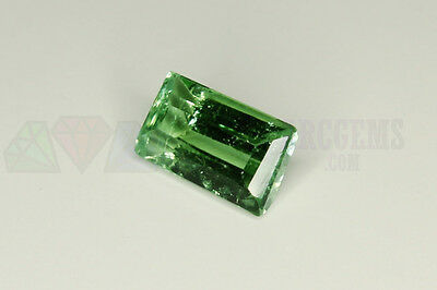 Green Tourmaline Octagon 1.08ct 7.5x5mm VS Loose Natural Gemstone Afghanistan