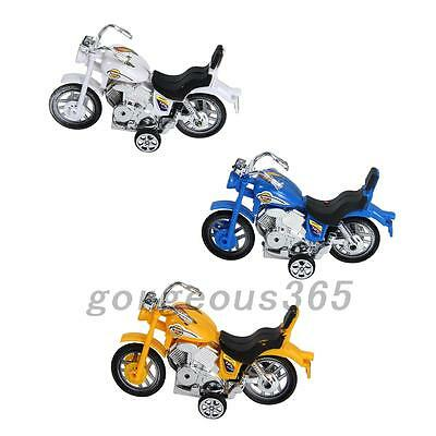 Plastic Pull Back Motorcycle Motorbike Vehicle Model Toy for Kids 3Colors