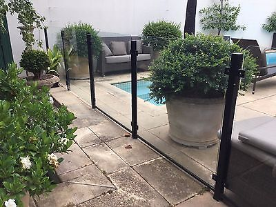 pool fencing 5 glass panels plus 2 glass gates