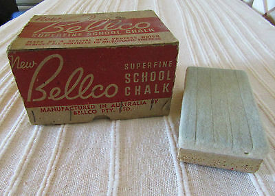 Vintage Old School Bellco Blue Chalk And Chalk Board Duster