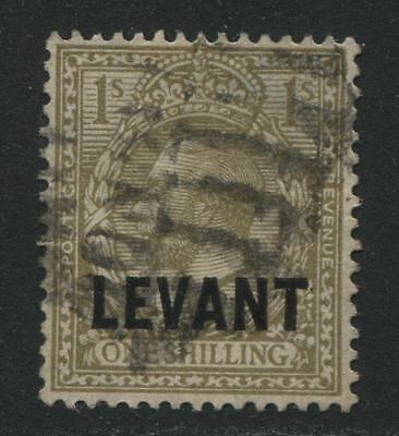 British Levant: 1921 George V 1/- stamp SG L23 Used MM259