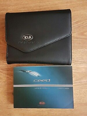 Kia Ceed Owners Manual 2012-2015 And Wallet