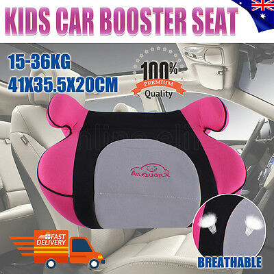 Portable Baby Child Kid Children Car Booster Seat Safe Sturdy 3 To 12 Years Pink
