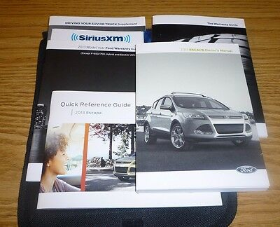 2013 FORD ESCAPE OWNERS MANUAL SET 13 guide w/case