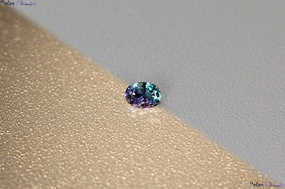 0.105 Ct Unique 100% Nr' Dancing Color Change Alexandrite Gemstone Aaa Oval !!!