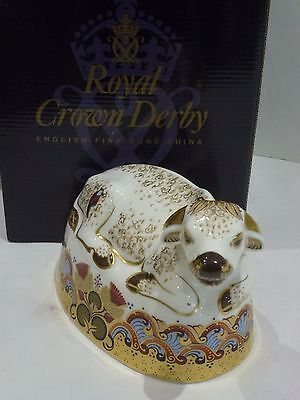 Royal Crown Derby Water Buffalo  GOLD stopper. Boxed, Mint  never displayed.