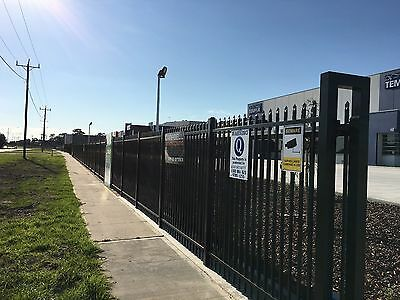 Powder Coated Steel Fence Panels 2.1m x 2.4m includes 100mm post and fittings